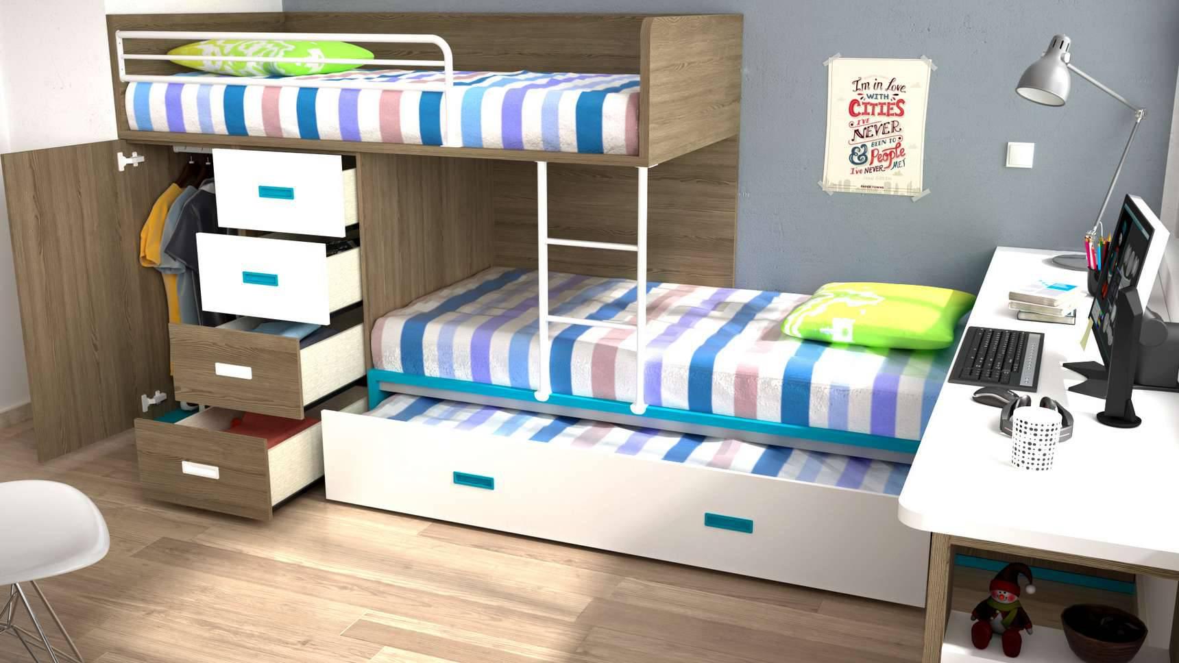 Ideh bita dormitorio juvenil tren for Dormitorio juvenil tren