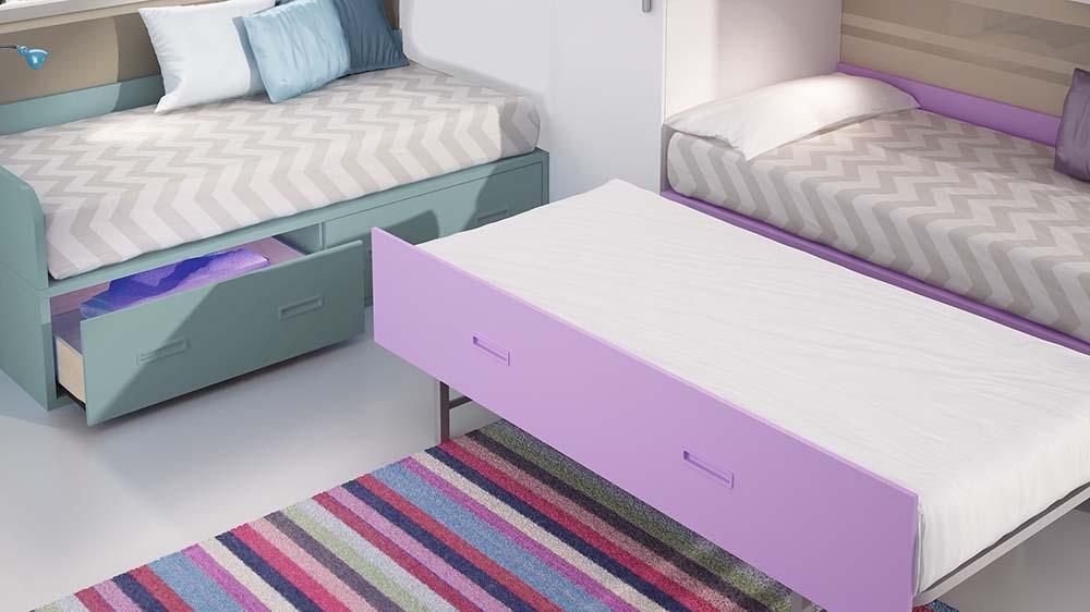 Ideh bita dormitorio juvenil con dos camas nido - Dormitorio juvenil con dos camas ...