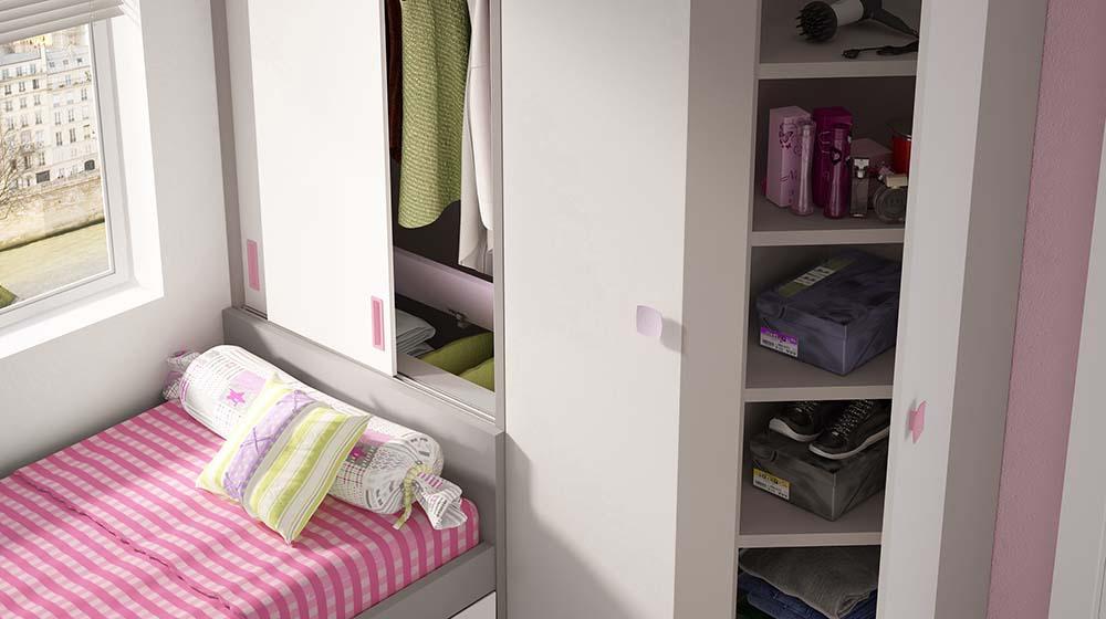 Ideh bita dormitorio juvenil con armario corredera - Disenador de armarios ...