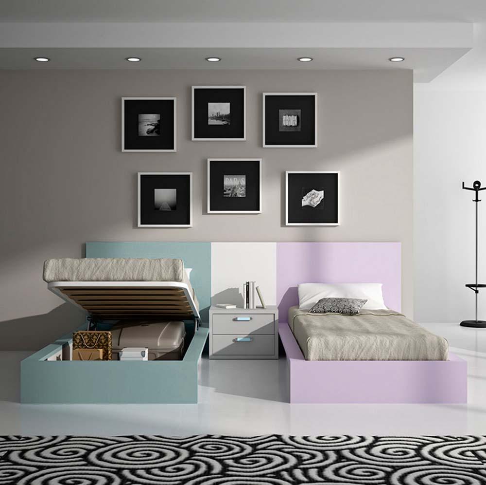 Ideh bita juvenil camas con arc n y escritorio - Camas con arcon ...