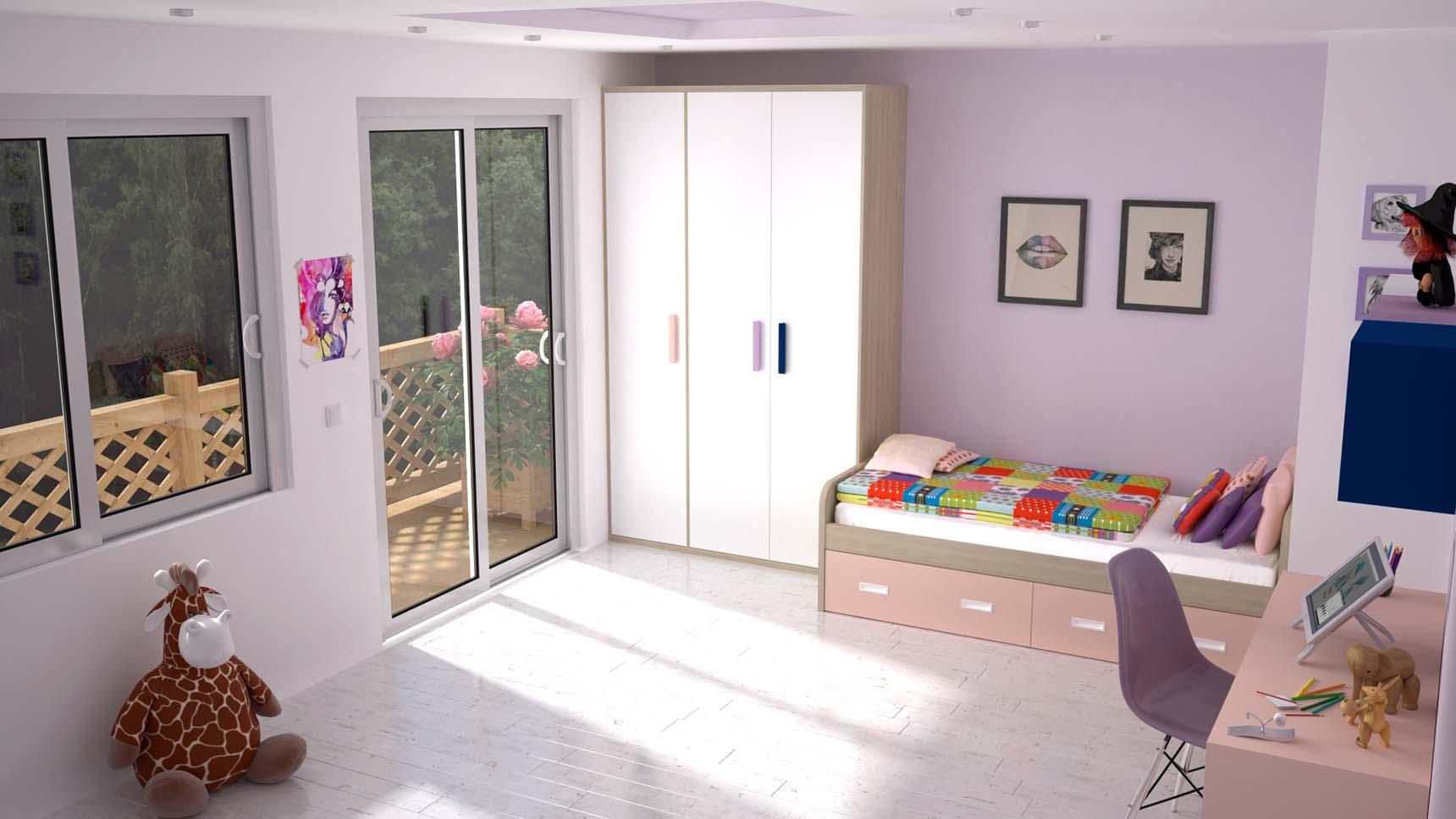 Habitaci n juvenil con cama nido con cajones ideh bita - Habitacion con cama nido ...