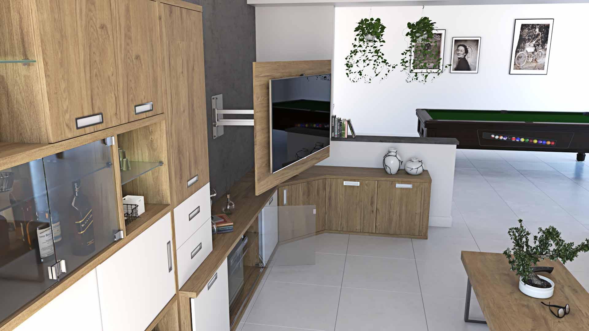 Ideh bita mueble de sal n en esquina con soporte tv for Mueble tv esquina