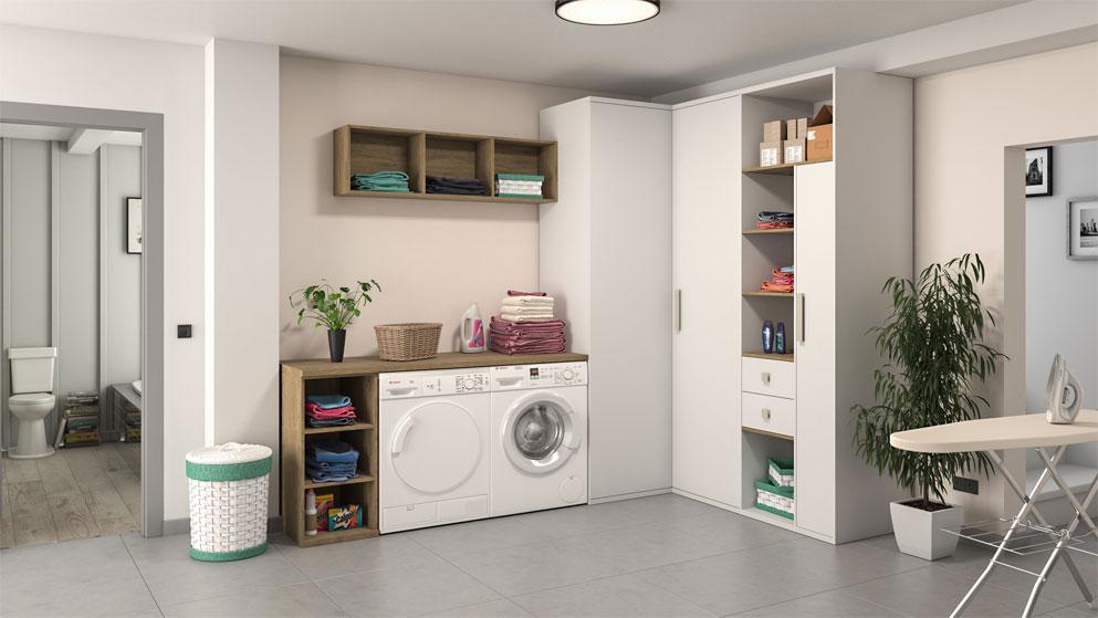 Muebles para lavadoras y secadoras trendy mueble columna - Mueble lavadora secadora ...