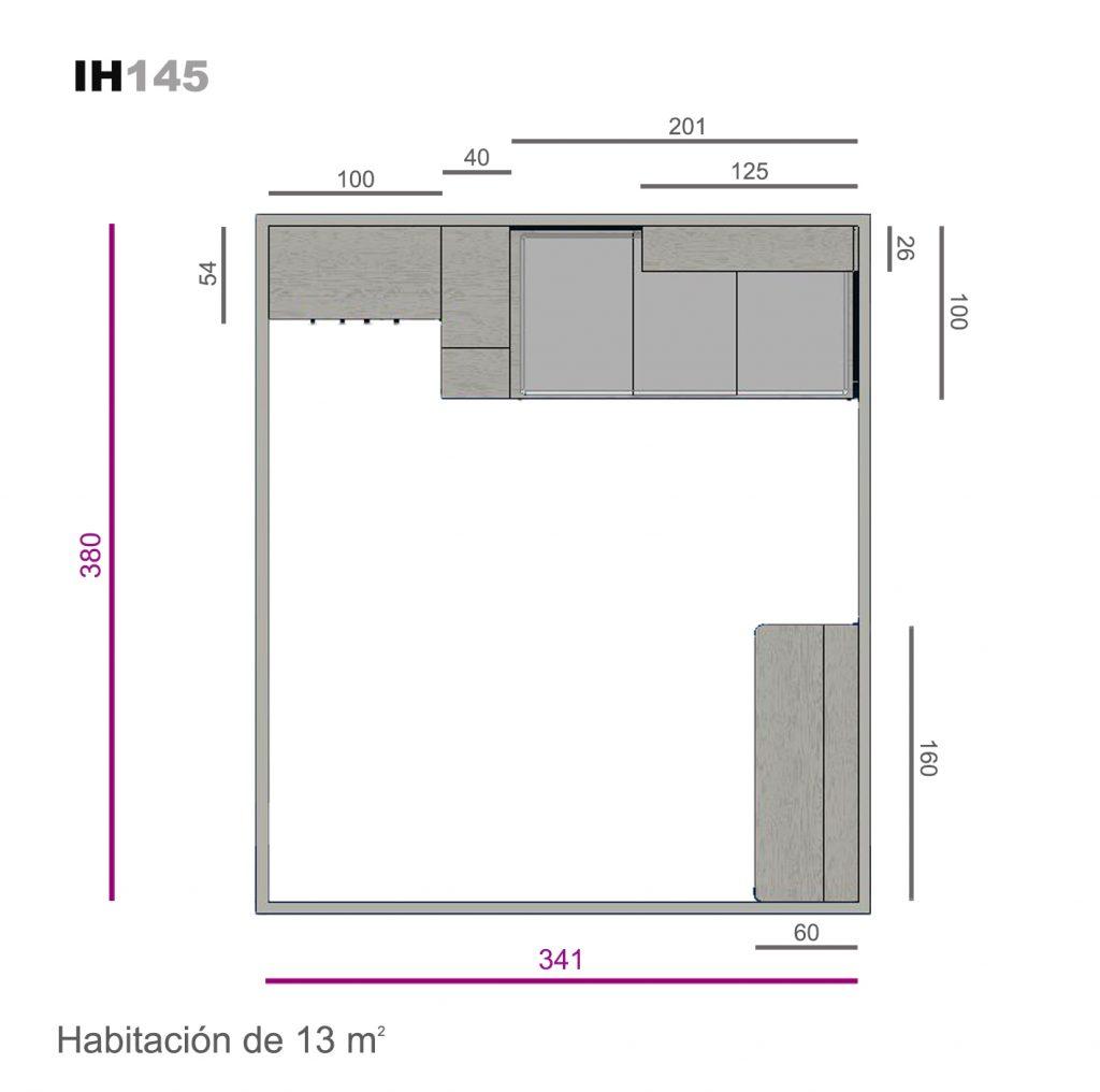 compacto base 30 2 cajones ih145