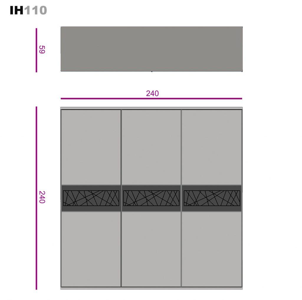 Armario de tres puertas lacadas ih110