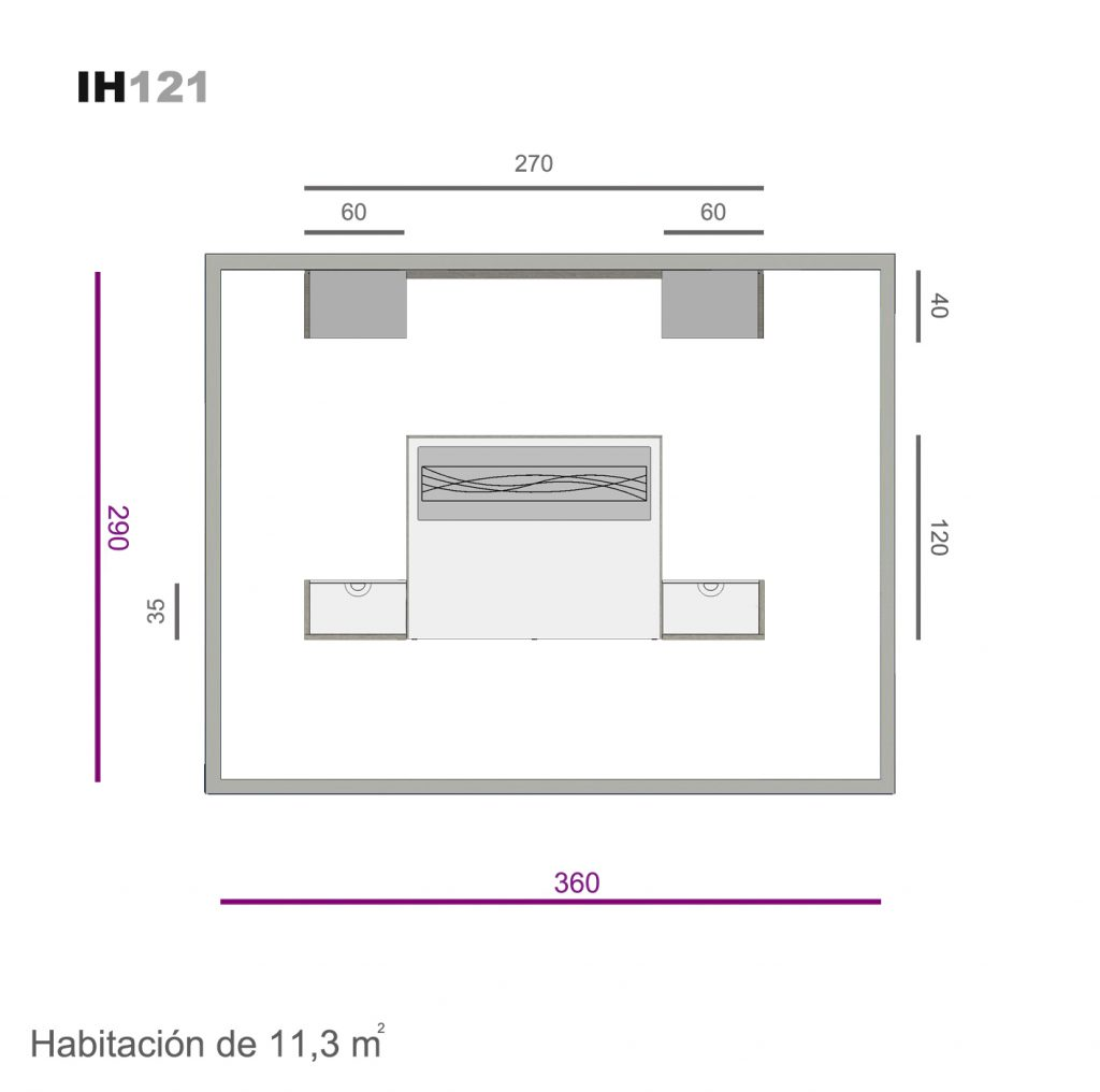 cabecero con caja decorada lacado ih121