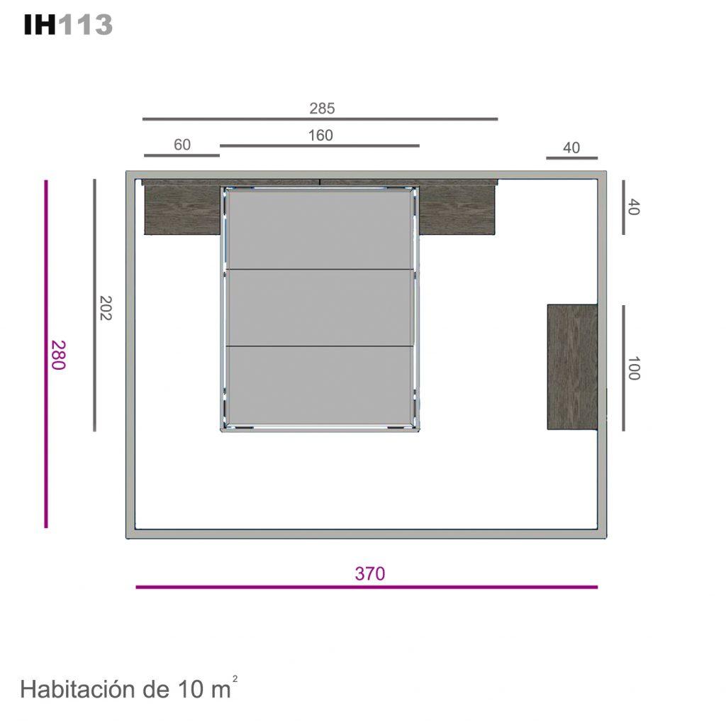 cabecero hexágono ih113