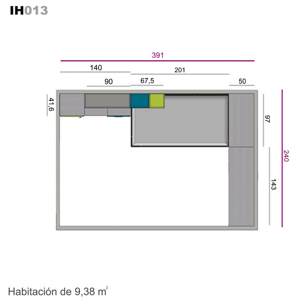 armario corredera sobre encimera ih013