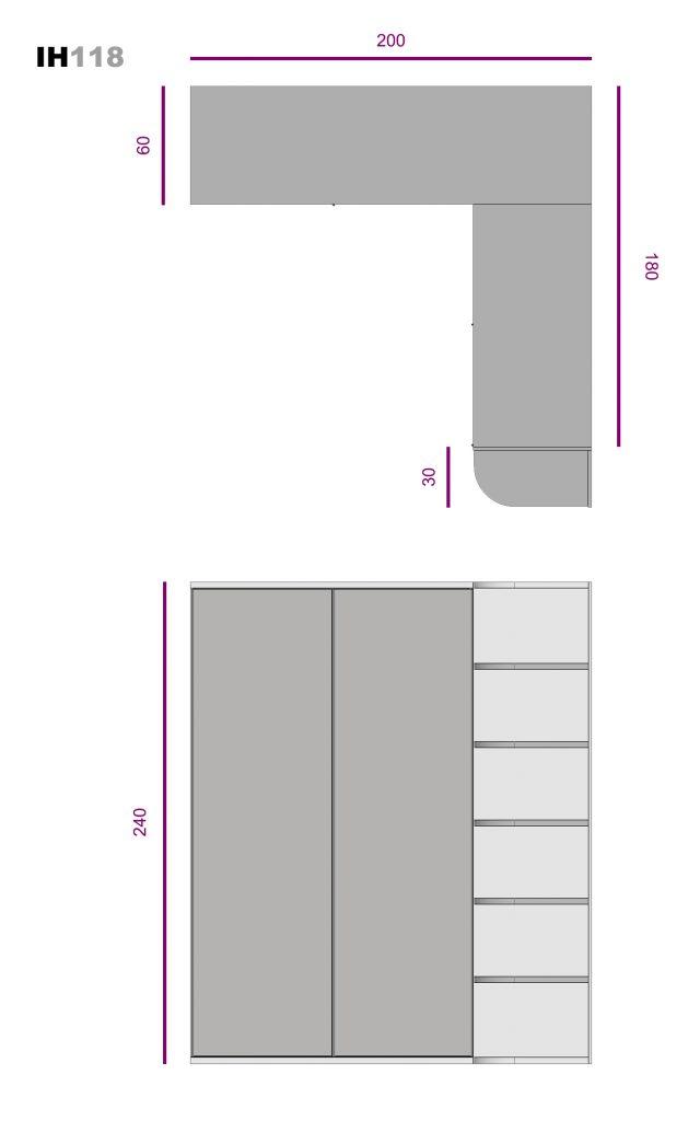 armario rincón corredera ih118