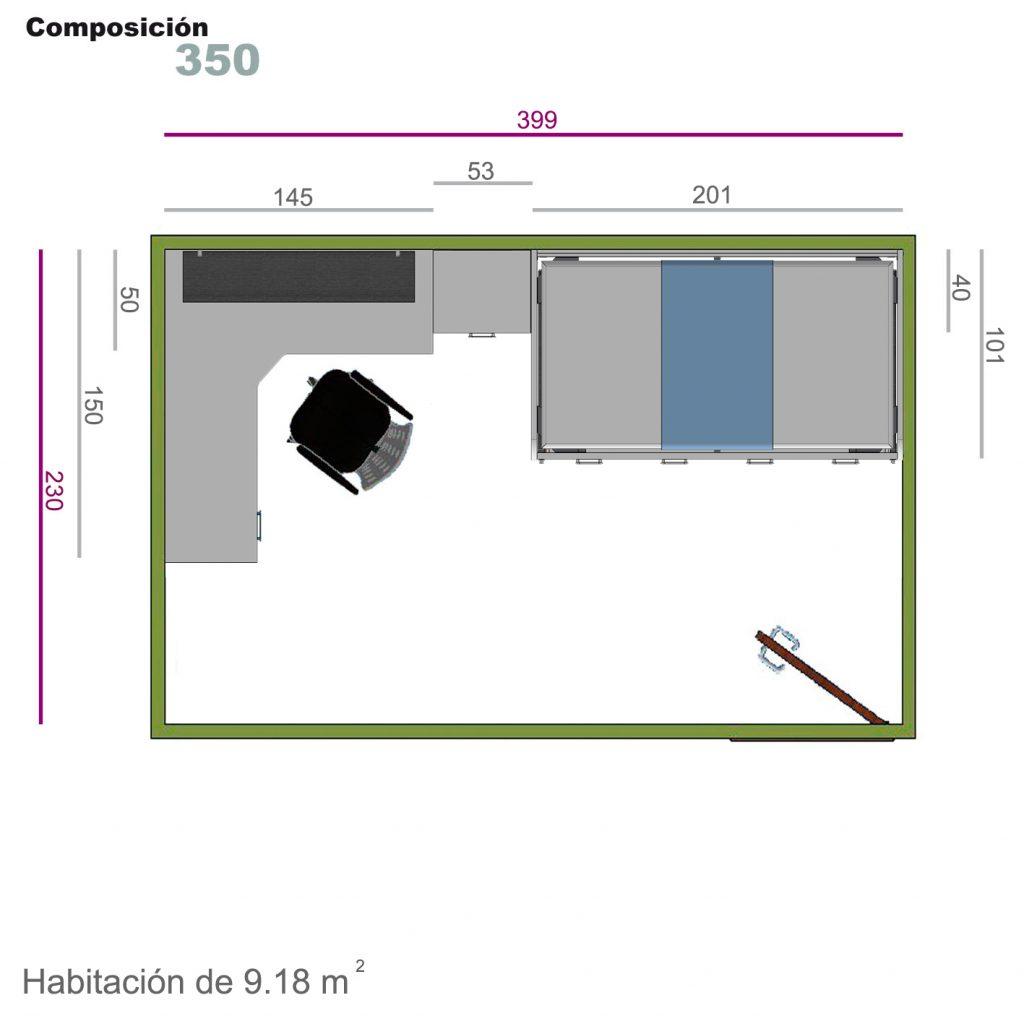 compacto cajones 350