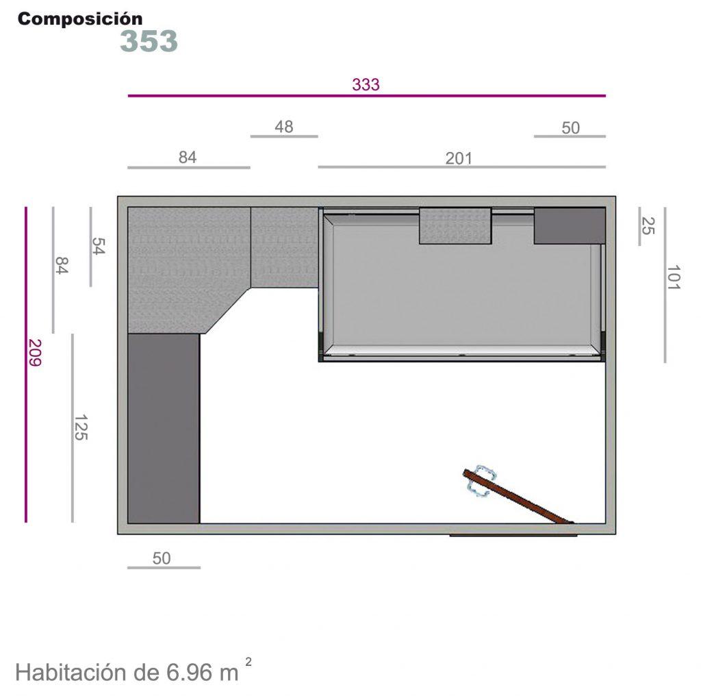 compacto cajones 353