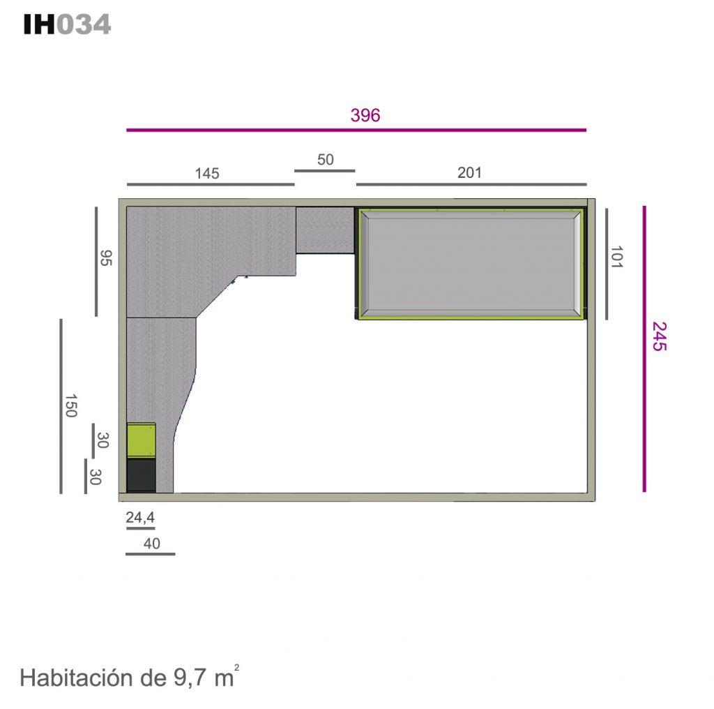 cama nido base 30 con cajones ih034