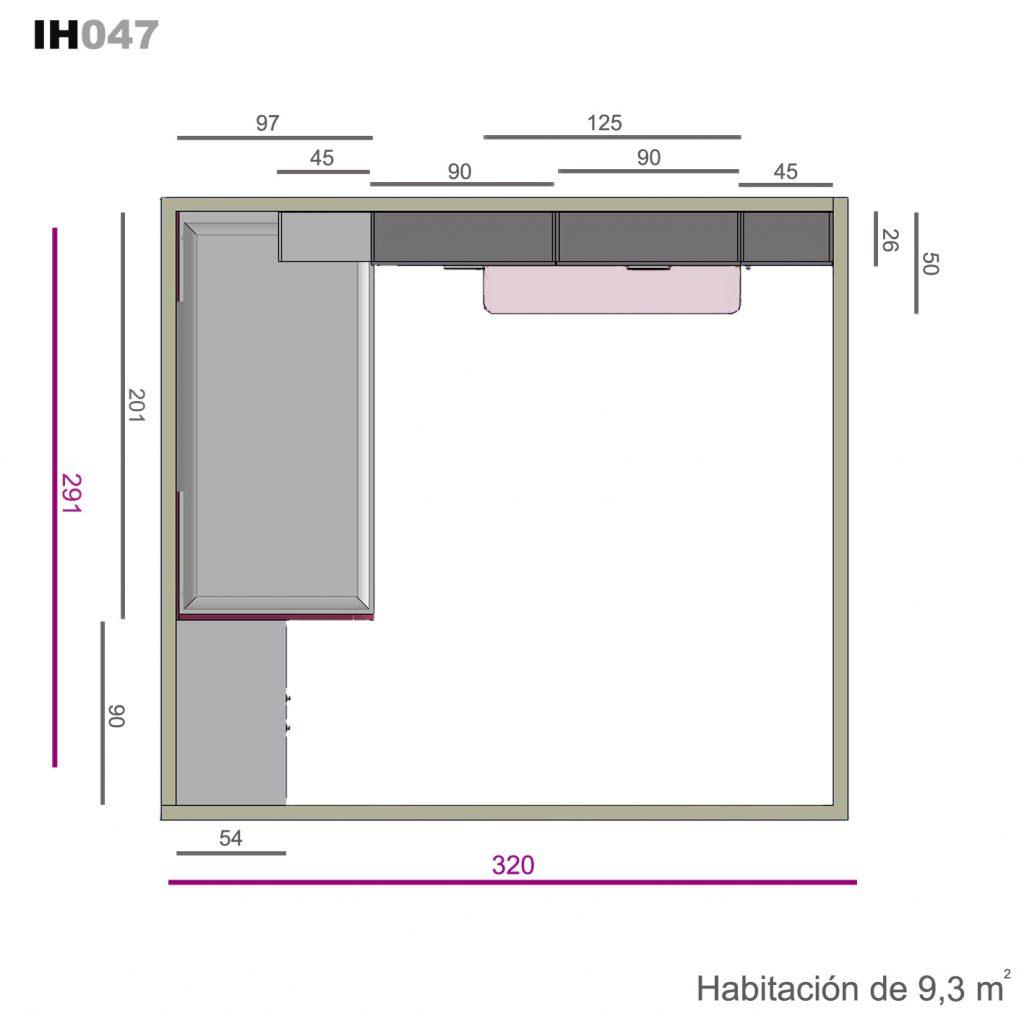 nido base 30 con cajones ih047