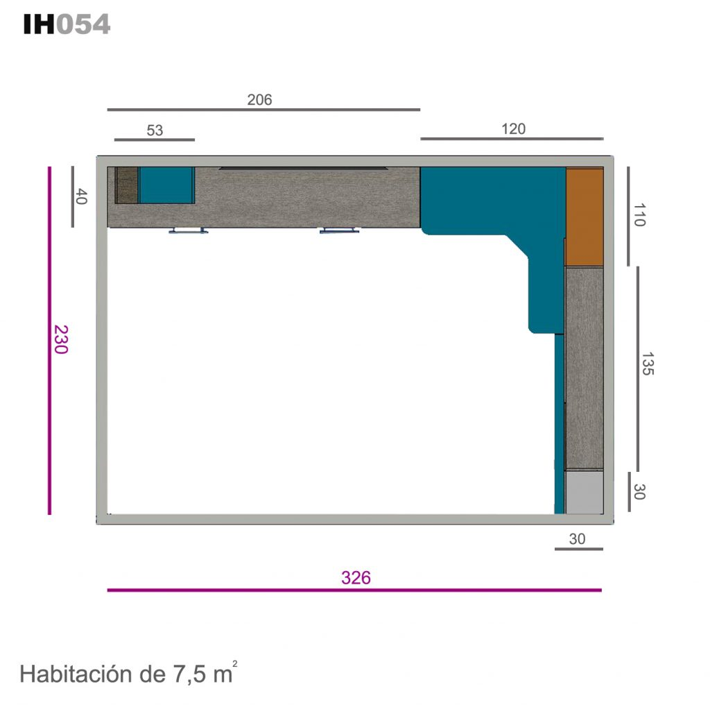 cama abatible horizontal ih054