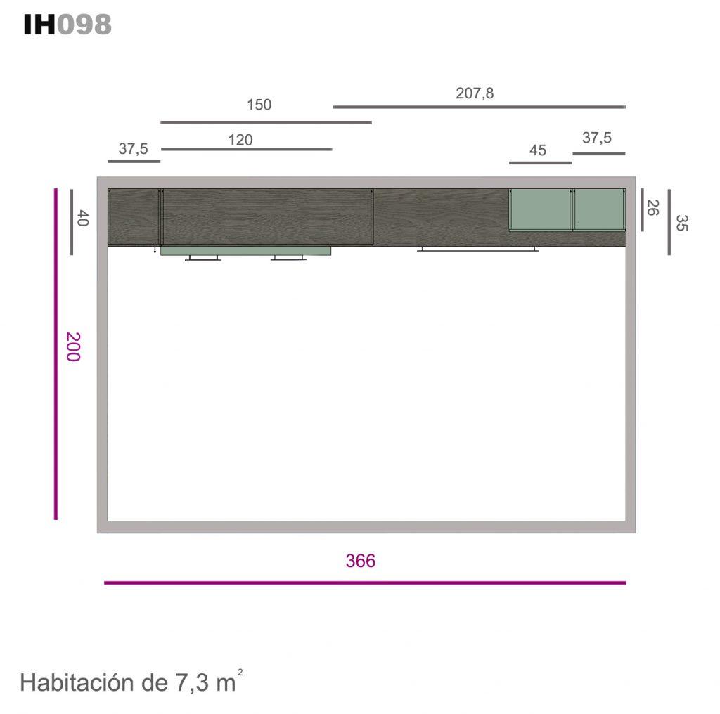 abatible horizontal soft ih098