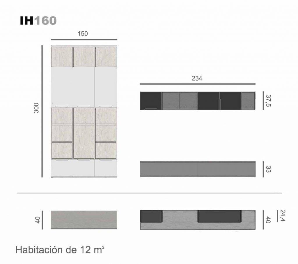 elementos de libre configuración ih160