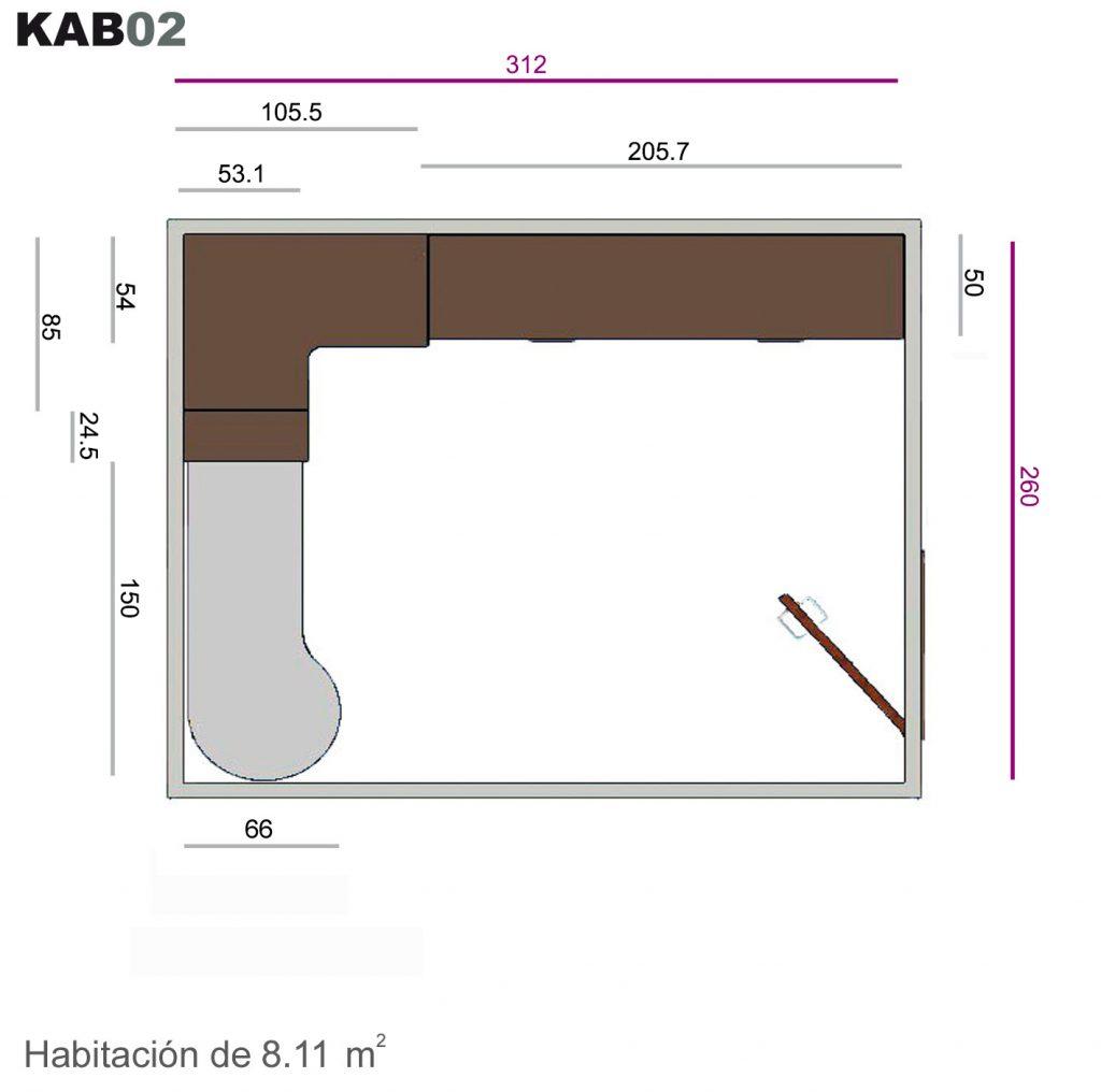 Literas abatibles kab02
