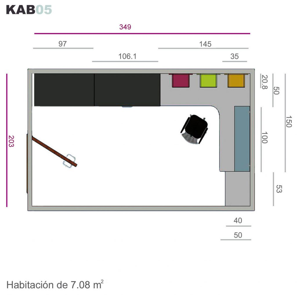 Cama abatible vertical kab05
