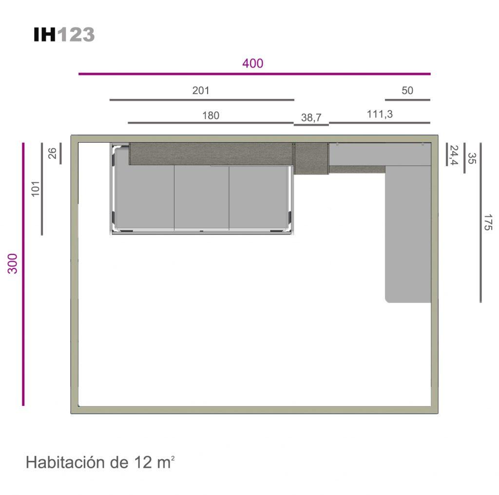 nido auxiliar lacado ih123