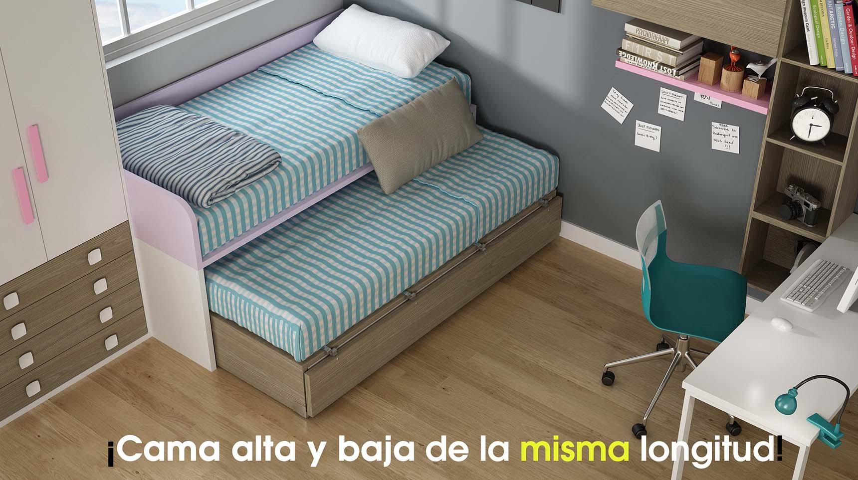 cama nido con frente abatible ih053