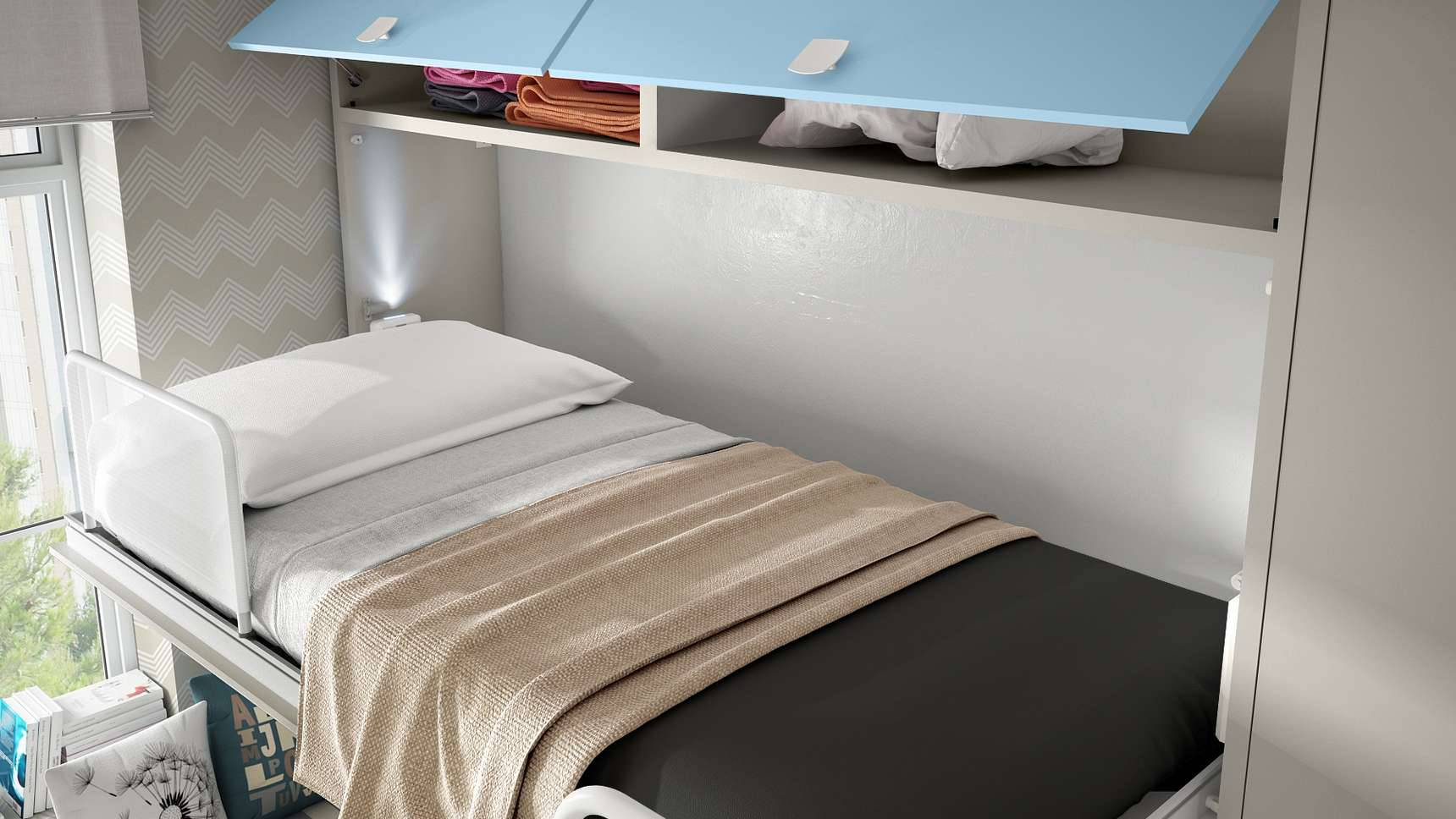 cama alta soft con altillo ih100