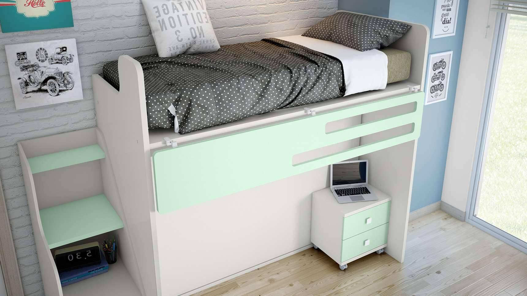 Ideh bita litera con cama abatible - Cama litera abatible ...