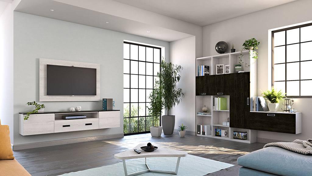Ambiente de sal n con soporte tv giratorio ideh bita - Mesitas para salon ...