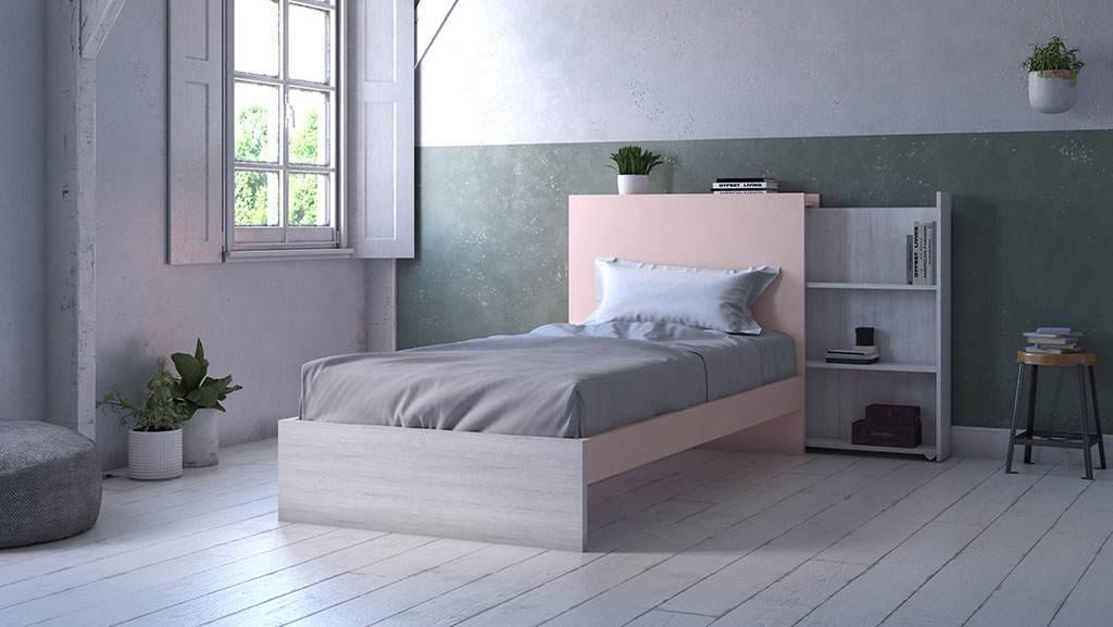 Dormitorio juvenil con cabecero extraible idehabita.com