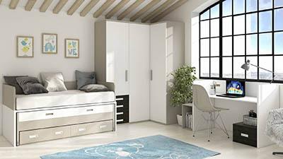 Dormitorio Juvenil con Cama Compacta IH157