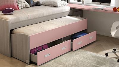 Detalle dormitorio compacto